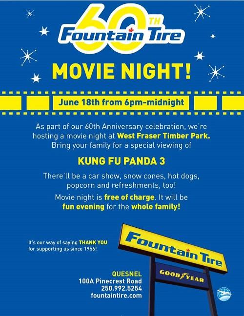 Fountain Tire Movie Night